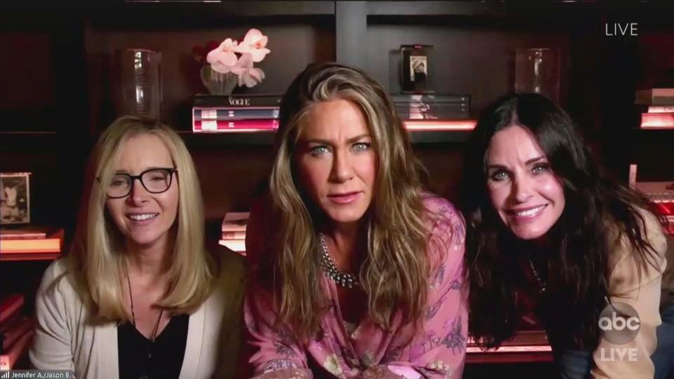 Emmy Awards 2020: Jennifer Aniston, Lisa Kudrow, Courtney Cox have mini 'Friends' reunion ...