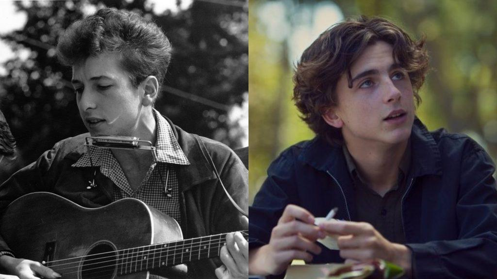 Bob Dylan Timothee Chalamet Media